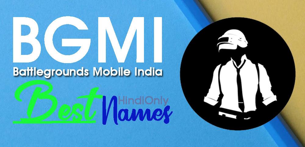 Best BGMI Names Hindi 2021