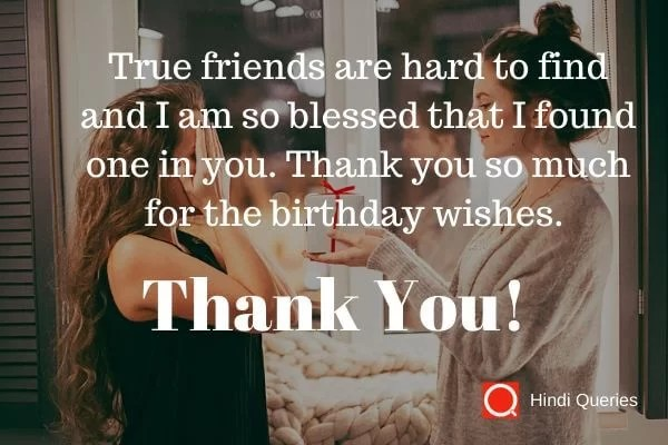 thanks for your birthday wishes Hindi Queries