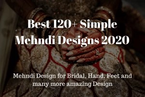 Best 120+ Simple Mehndi Designs 2020