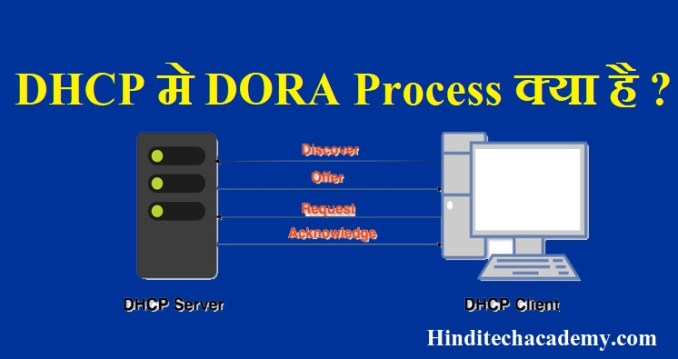 What is process of DORA in DHCP in Hindi