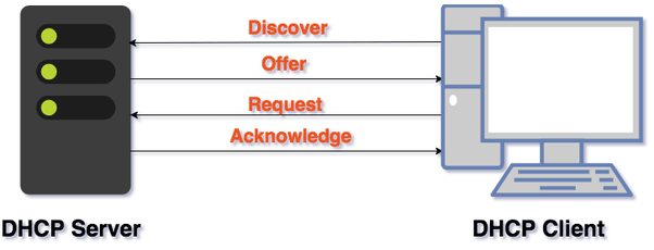 What are the four steps of DHCP in hindi?