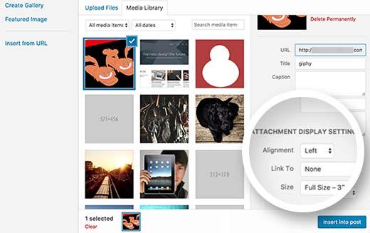 Why Animated GIFs Become a Static Image in WordPress  WordPress में आप बड़ी आसानी से किसी भी प्रकार की मीडिया फाइल को अपलोड करके उसका इस्तेमाल कर सकते है । जब आप मीडिया अपलोडर का उपयोग करके कोई Image अपलोड करते हैं, तो वर्डप्रेस Automatically ही विभिन्न आकारों में उस Image की कई Copies बनाता है। तीन डिफ़ॉल्ट वर्डप्रेस छवि आकार हैं Thumbnail, Medium और large और यह आपकी Original Image को भी full size में रखता है।  एनिमेटेड GIF के लिए नए Image sizes बनाते समय, वर्डप्रेस GIF के केवल पहले फ्रेम को बचाते को ही दिखता है। अब यदि आप अपने पोस्ट या पेज में उन किसी भी इमेज साइज को जोड़ते हैं, तो वे बिना किसी एनीमेशन के वह स्टैटिक GIF इमेज होंगे। तो आइए जानते है की बिना एनीमेशन खोए वर्डप्रेस में एनिमेटेड जीआईएफ को ठीक से कैसे जोड़ें  WordPress वेबसाइट में Animated GIF कैसे जोड़ें  सबसे पहले, आपको उस पोस्ट या पेज को एडिट करना होगा जहां आप Animated GIFs को जोड़ना चाहते हैं और उसके बाद Add Media buttonपर क्लिक करें।  अब वर्डप्रेस मीडिया अपलोडर पॉपअप लाएगा। आपको upload files button पर क्लिक करें और इसे फाइल्स अपलोड करने के लिए अपने कंप्यूटर से अपनी Animated GIF Images को Select करें है।  GIF Images फ़ाइल को अपलोड करने के बाद दाईं ओर Attachment Display Settings' सेक्शन के नीचे 'full size' को सेलेक्ट करें।  उसके बाद जारी रखने के लिए 'Insert Into Post' बटन पर क्लिक करें।  वर्डप्रेस अब पोस्ट एडिटर में आपकी Animated GIF डालेगा। यह फुल साइज की Original Animated GIF फाइल होगी जो आपने अपलोड किया है आप Visual Post Editor में एकदम से एनीमेशन देख पाएंगे।  अब आप अपनी पोस्ट को editing करना जारी रख सकते हैं या उसे Preview करने के लिए Save कर सकते हैं।  एनिमेटेड GIF Image आमतौर पर अन्य Image फ़ाइलों की तुलना में File Size में बड़ी होती हैं। ऐसा इसलिए है क्योंकि उनमें एनीमेशन बनाने के लिए फ़्रेम के रूप में उपयोग की जाने वाली कई compressed images होती हैं। इसलिए एक वर्डप्रेस पेज पर बहुत अधिक GIF Images जोड़ना आपकी वेबसाइट को धीमा कर सकता है। हमें उम्मीद है कि इस Post ने आपकी WordPress वेबसाइट में Animated GIF कैसे जोड़ें को जानने में मदद की।