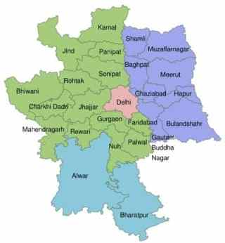 Delhi NCR Full form & City List in Hindi