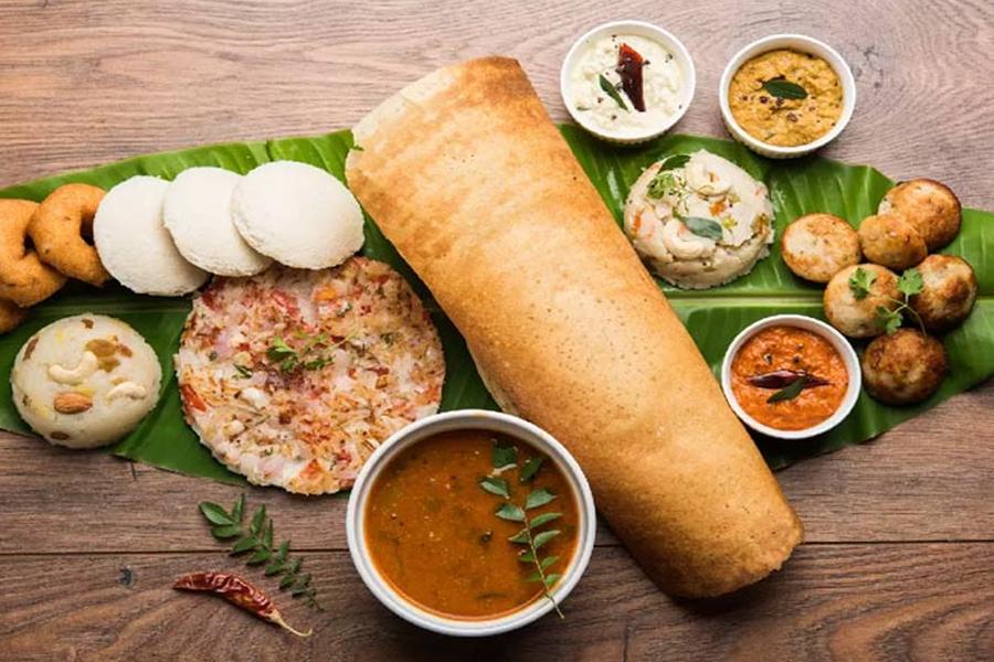south indian thali food