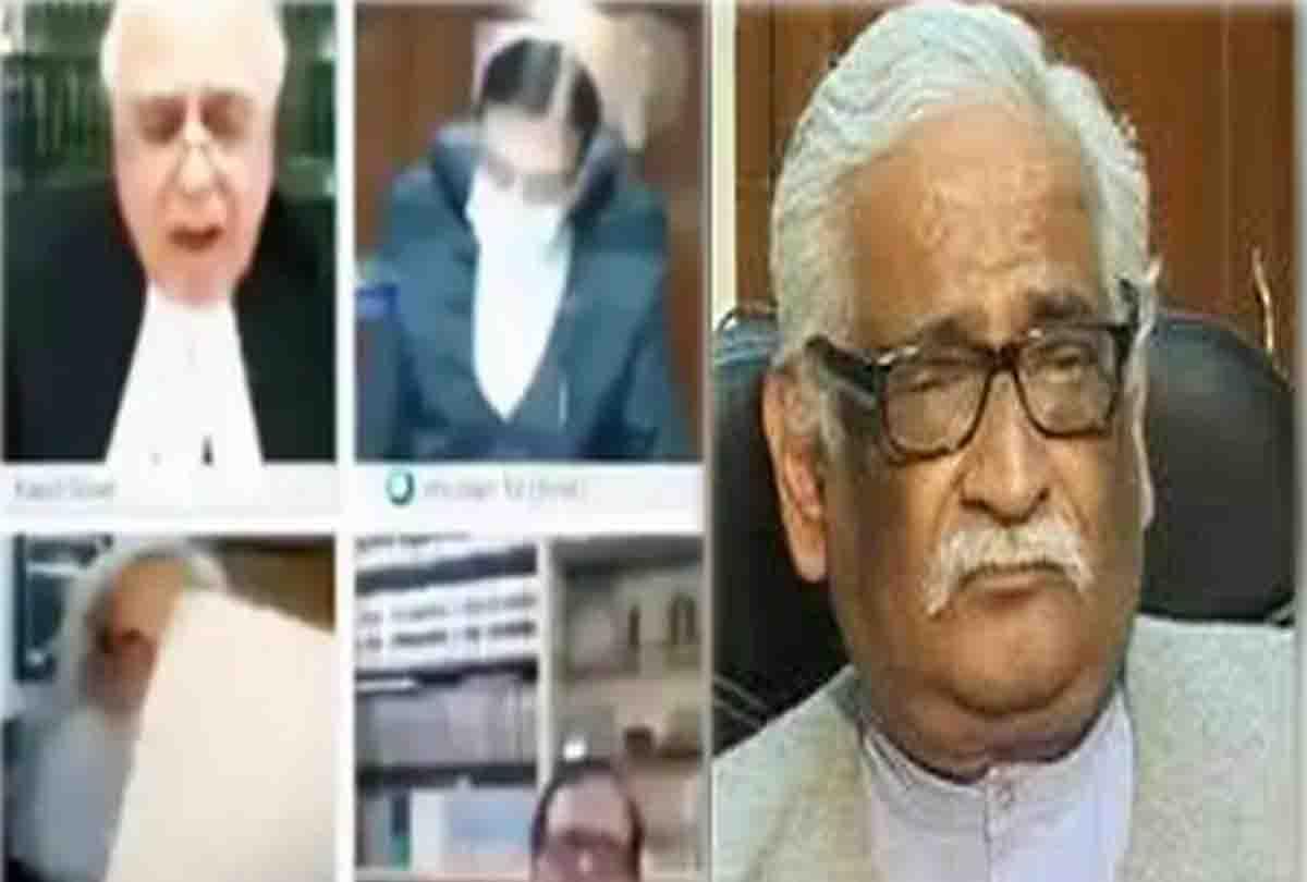 कोर्ट में सुनवाई के दौरान हुक्का पीते नजर आए वरिष्ठ वकील, वीडियो वायरल