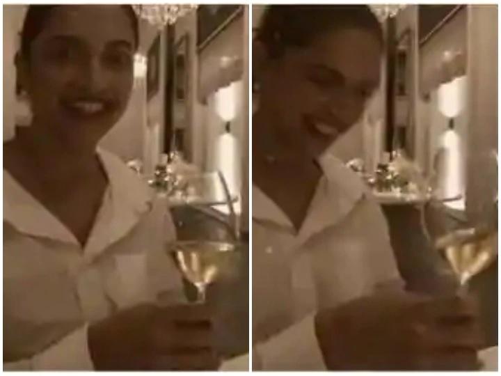 जाम का गिलास लिए झूमती दिखी दीपिका, पति रणवीर ने शेयर किया वीड़ियो