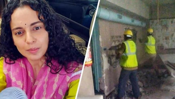 कंगना के दफ्तर पर चला Bmc का बुल्डोजर, अभिनेत्री ने कहा बाबर की सेना.....