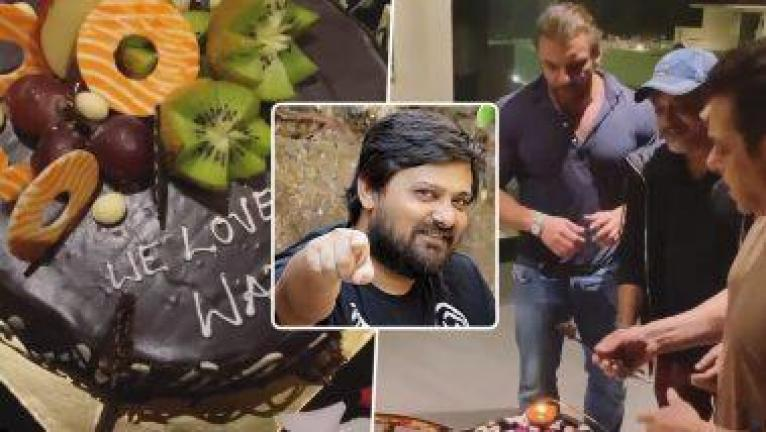 सिंगर वाजिद खान के जन्मदिन पर सलमान ने किया याद. काटा केक
