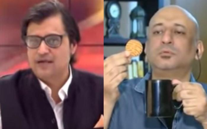 'रिपब्लिक भारत' चैनल पर 'पूछता है भारत' कार्यक्रम में डिबेट के दौरान लाइव शो में प्रोड्यूसर शोएब चौधरी ने अर्नब गोस्वामी को कहा जाहिल