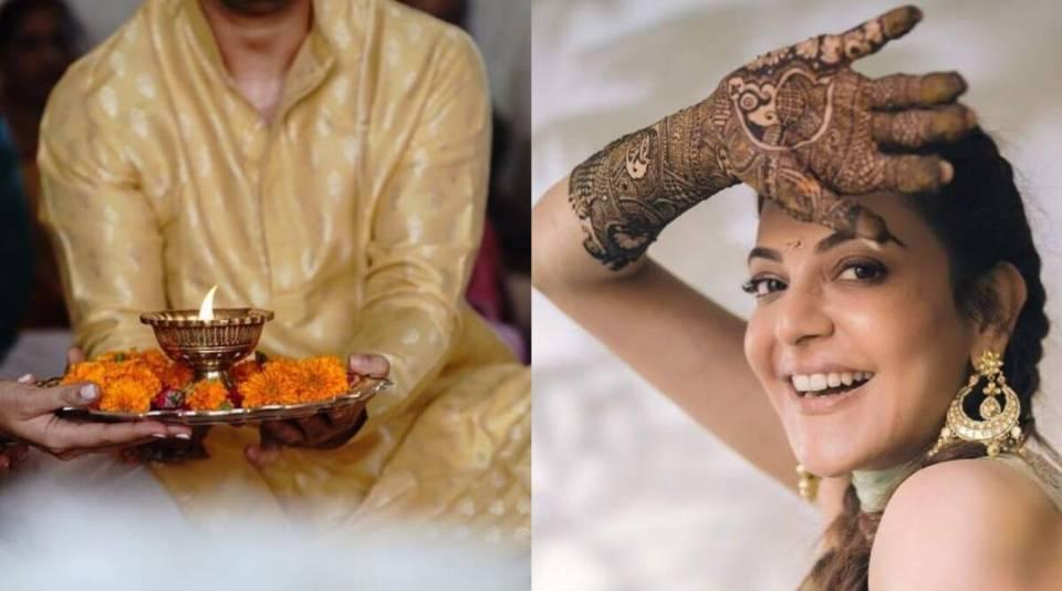 काजल अग्रवाल ने शेयर की हल्दी और मेहंदी की तस्वीरें, होने वाले पति के साथ लगाए जमकर ठुमके