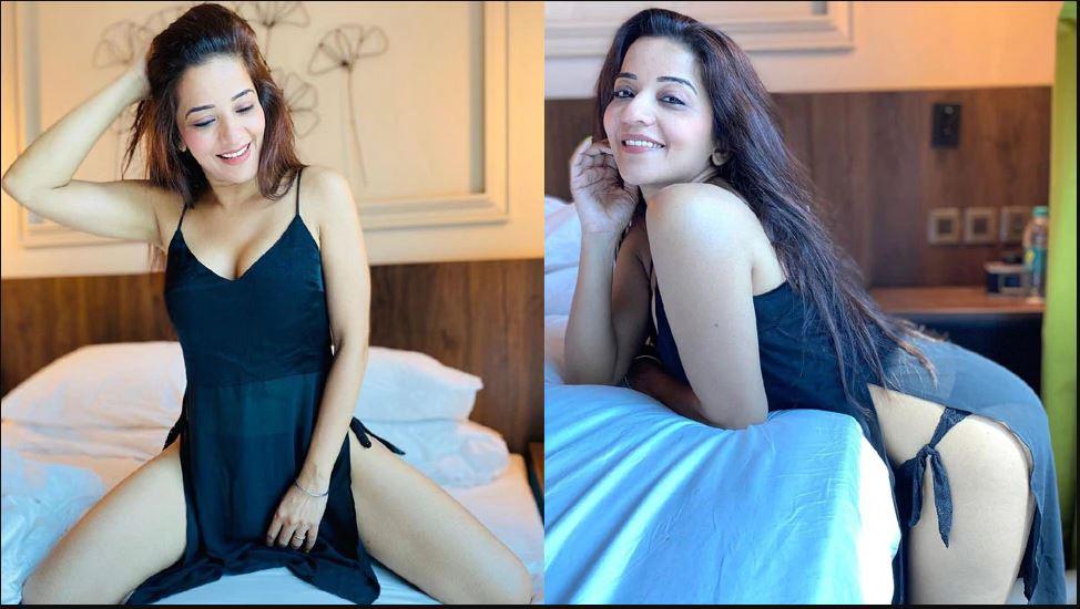 मोनालिसा ने ब्लैक ड्रेस में कराया बेहद हॉट फोटोशूट, देखते ही फैंस हुए घायल