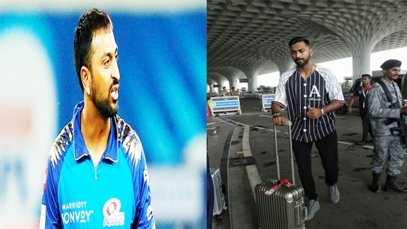 मुंबई एयरपोर्ट पर हिरासत में लिए गए क्रुणाल पंड्या, सामान हुआ जब्त