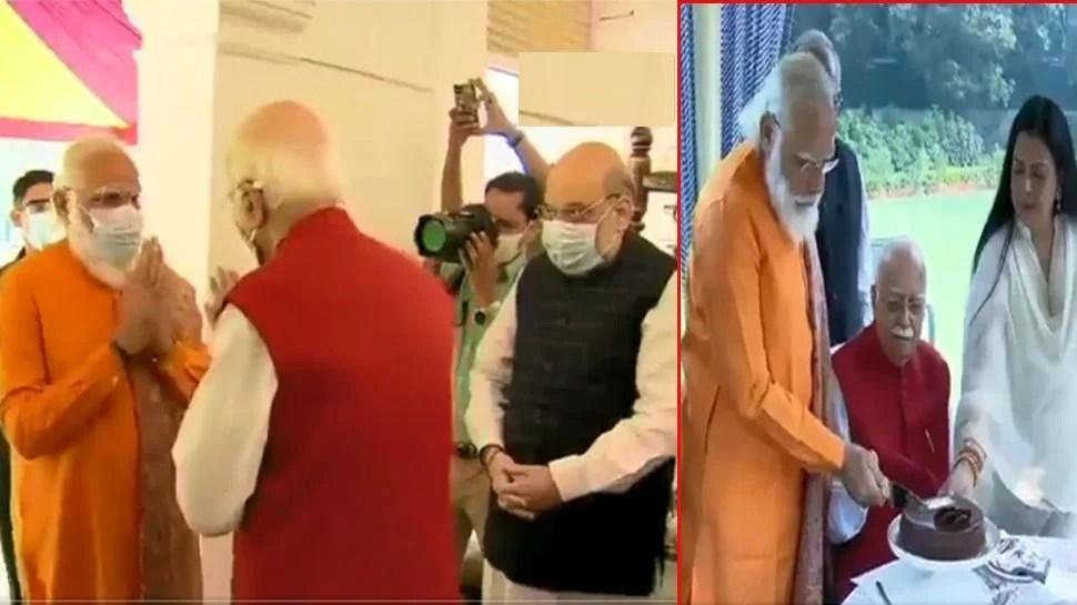 आडवाणी के घर पहुंचे पीएम मोदी और अमित शाह गुलदस्ता भेंट कर जन्मदिन की दी बधाई, देखे तस्वीरें