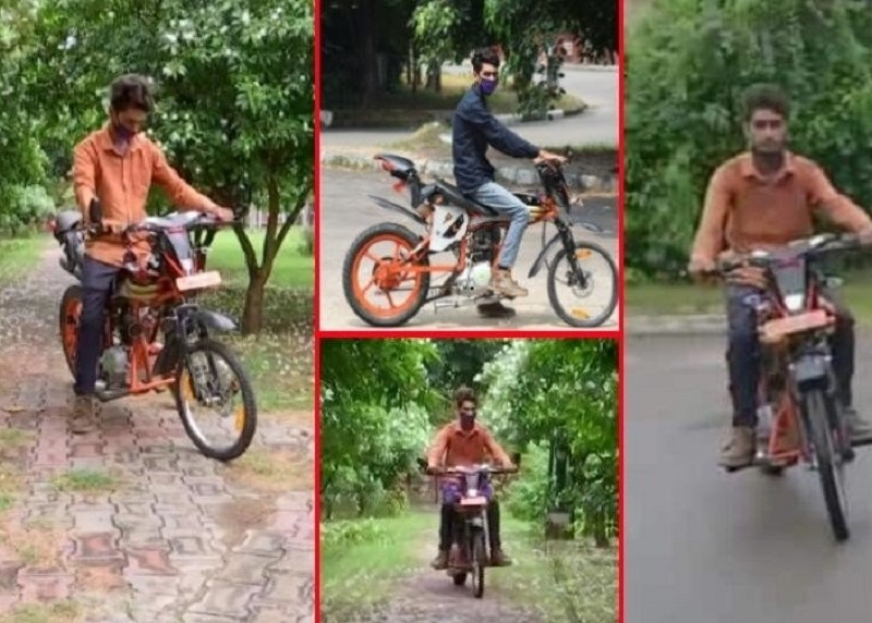 9 वीं पास लड़के ने देशी जुगाड़ लगाकर बनाई कबाड़ से बाइक