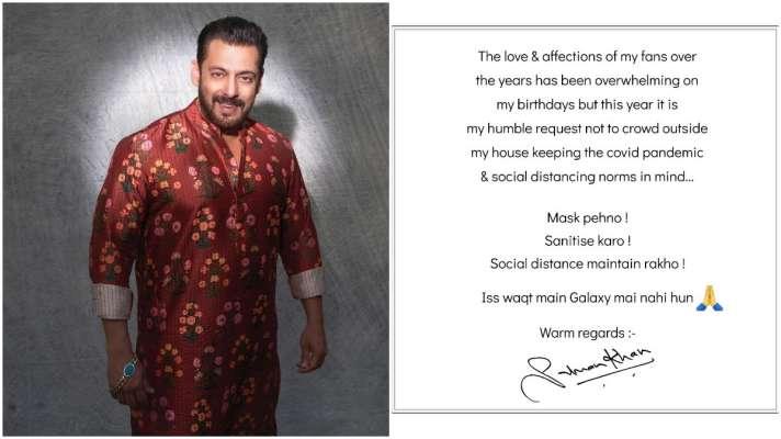 जन्मदिन से पहले सलमान खान ने घर के बाहर चिपकाया नोटिस, उनके चाहने वालों को लगा बड़ा झटका