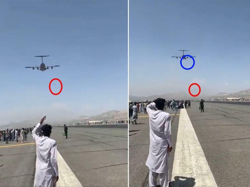 अफगानिस्तान: काबुल में उड़ते प्लेन से जमीन पर गिरे 3 अफगानी, देखिए वीडियो