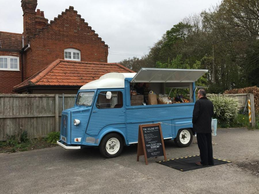 Village Van selling produce