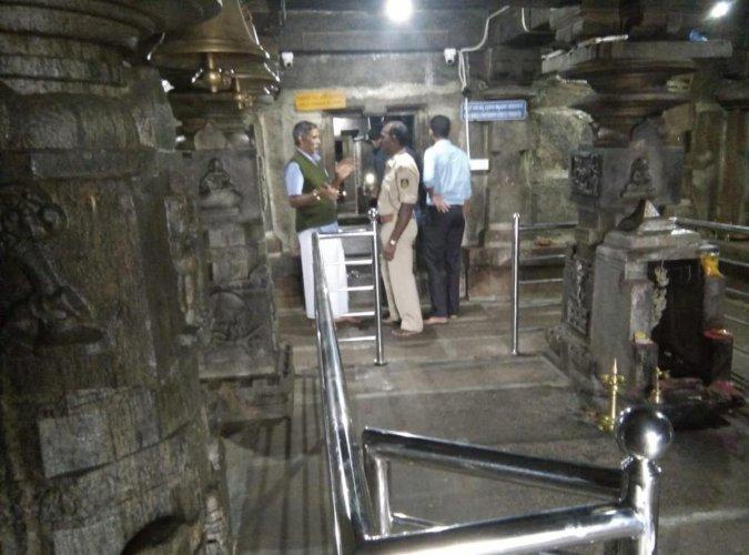 The Kalabhairaveshwara temple in Devaramane, Mudigere taluk.Read more at: https://www.deccanherald.com/state/mangaluru/historic-temple-looted-743318.html