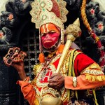 Hanuman Devotee at Pashupatinath Temple