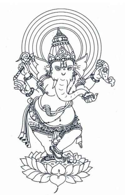 ganesha coloring pages hindu mommy