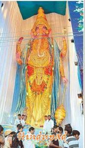 Second largest ganapati idol for ganesh chaturthi 2010 - Dondarparthy ganesh idol