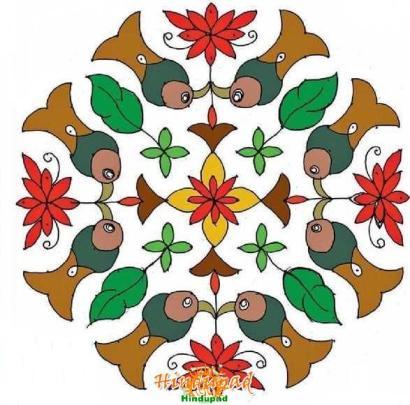 muggu rangoli design 194