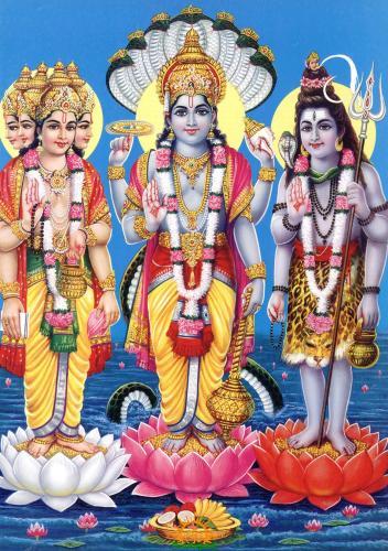 Lord Brahma, Lord Vishnu, Lord Shiva