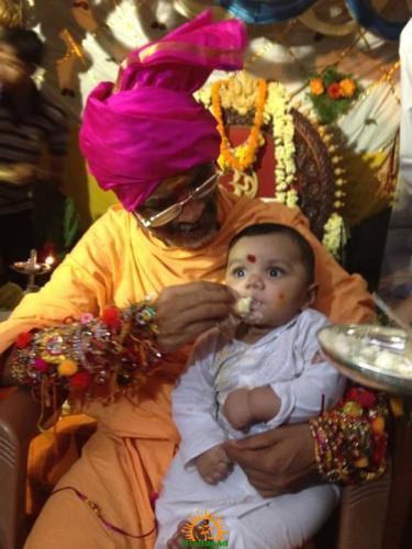 Annaprasana, Feeding First Rice to Baby