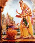 Lord Hayagriva giving Vedas to BrahmaLord Hayagriva giving Vedas to Brahma