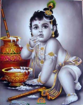 Lord Krishna in child form