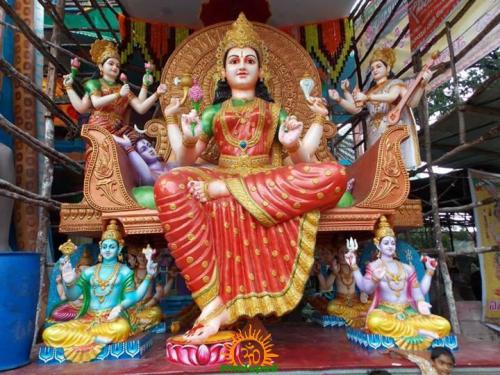 Bhuvaneshwari Mata setting at Khairatabad Ganesha 2013