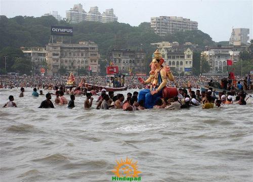 Ganesh Visarjan in Mumbai