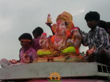 Ganesh immersion in Hyderabad 1