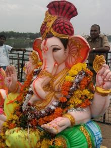 Ganesh immersion in Hyderabad 7