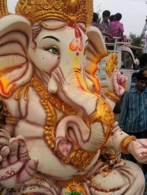 Ganesh immersion in Hyderabad Saroornagar Mini Tankbund