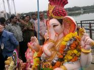 Ganesh immersion in Hyderabad Saroornagar