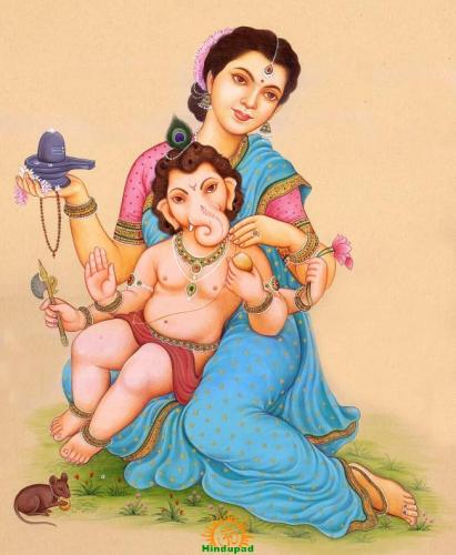 Gauri Ganesha – Ganapathi and Parvati