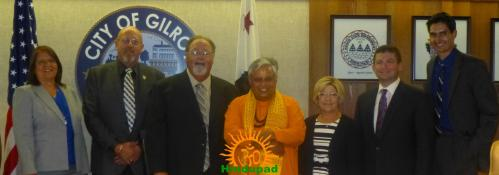 Just before the 1st Hindu invocation of Gilroy City Council, California
