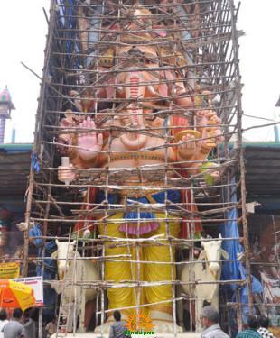 Khairatabad Ganesha 2013 making