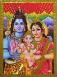 Lord-Shiva-Parvati-Maa-Baby-Ganesh-Golden
