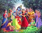 Vrindavan Lila Krishna Radharani