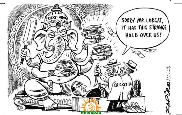 Lord Ganesha in Sunday Times newspaper of South Africa