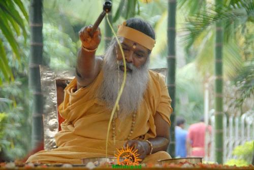 offering ghee in Yagna