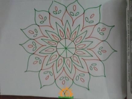 Chukkala Muggulu for Sankranti 3