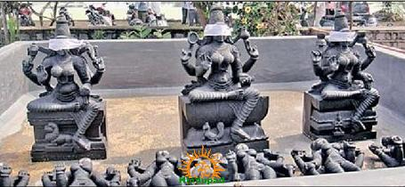 Idols in Trishakti Mata Temple