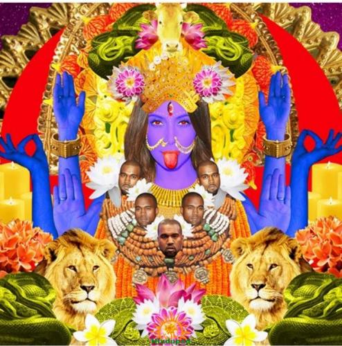 Kim Kardashian as Hindu Deity