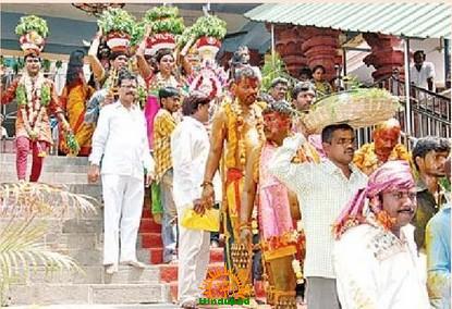 Bonalu in Vijayawada Kanakadurga Temple