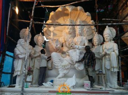 Making Khairatabad Ganesha 1