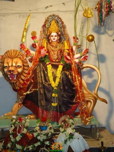 3 Lalitha Devi Alankaram in Navaratri of Sri Indraprastha Colony Temple