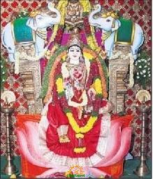 Balkampet Yellamma in Mahalakshmi Alankaram for Navaratri
